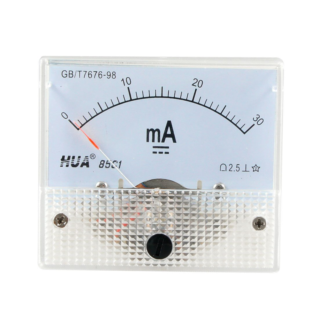 DC 0-30mA Analog Current Panel Meter Ammeter 85C1 30MA Off White Sourcingmap a12102300ux0746