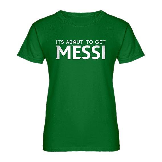 Indica Plateau Para Mujer Su Alrededor Conseguir Messi Camiseta
