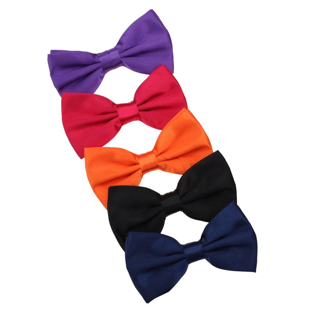 DBF2023 Series Colors Collection Series Microfiber Pre-tied 5 Pack Bow Ties Best Fashion By Dan Smith