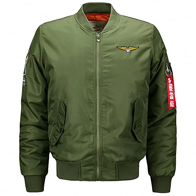 : Ma1 Thick Winter Men Bomber Jacket Air Force One