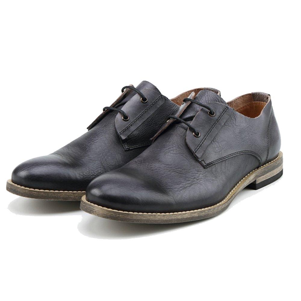 MERRYHE Männer Formelle Kleidung Derby Echtes Leder Lace Ups Schuh Runde Kappe Klassische Arbeitsschuhe Für Papa Freund Geschenke