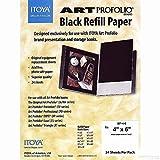 Itoya Profolio Black Paper Refill 4X6 24/Pk