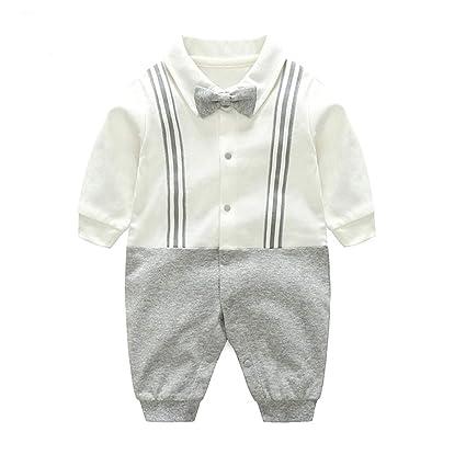 160ac84696ced Mum nny ベビーフォーマルロンパース 男の子 新生児服 結婚式 洋服 長袖 蝶ネクタイ付き 出産祝い