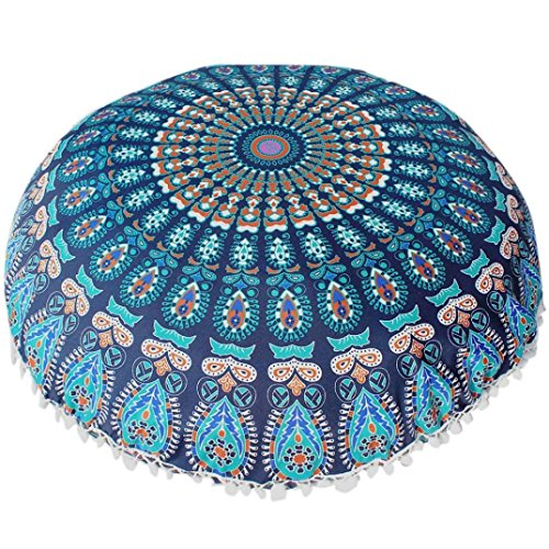 Amazon.com: Lavany Indian Mandala Almohadas Redondo Bohemio ...