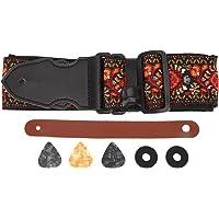 Peças elegantes de violão temperado, alças de baixo de comprimento ajustável, para violão acústico e guitarra elétrica