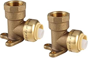 """(Pack of 2) EFIELD 1/2"""" Push Fit X 1/2"""" FEMALE NPT DROP EAR ELBOWS NSF ANSI61 - NO LEAD (2)"""