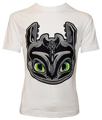 1893ac3e Dreamworks Dragons Children's T-Shirt Toothless Head, White - 116 ...