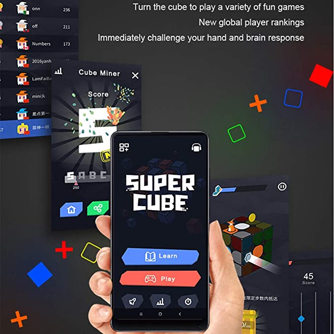 MIJIA Giiker I3S Super Magic Cube, APP Teaching - No Formula - Real-time  Sync - 30 Seconds Fast Recovery