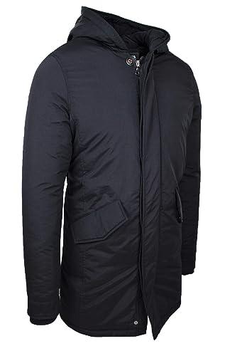 c3eb7abe6fb5f Evoga Parka Uomo Invernale Cappotto Giacca Casual Slim Fit Impermeabile   Amazon.it  Abbigliamento