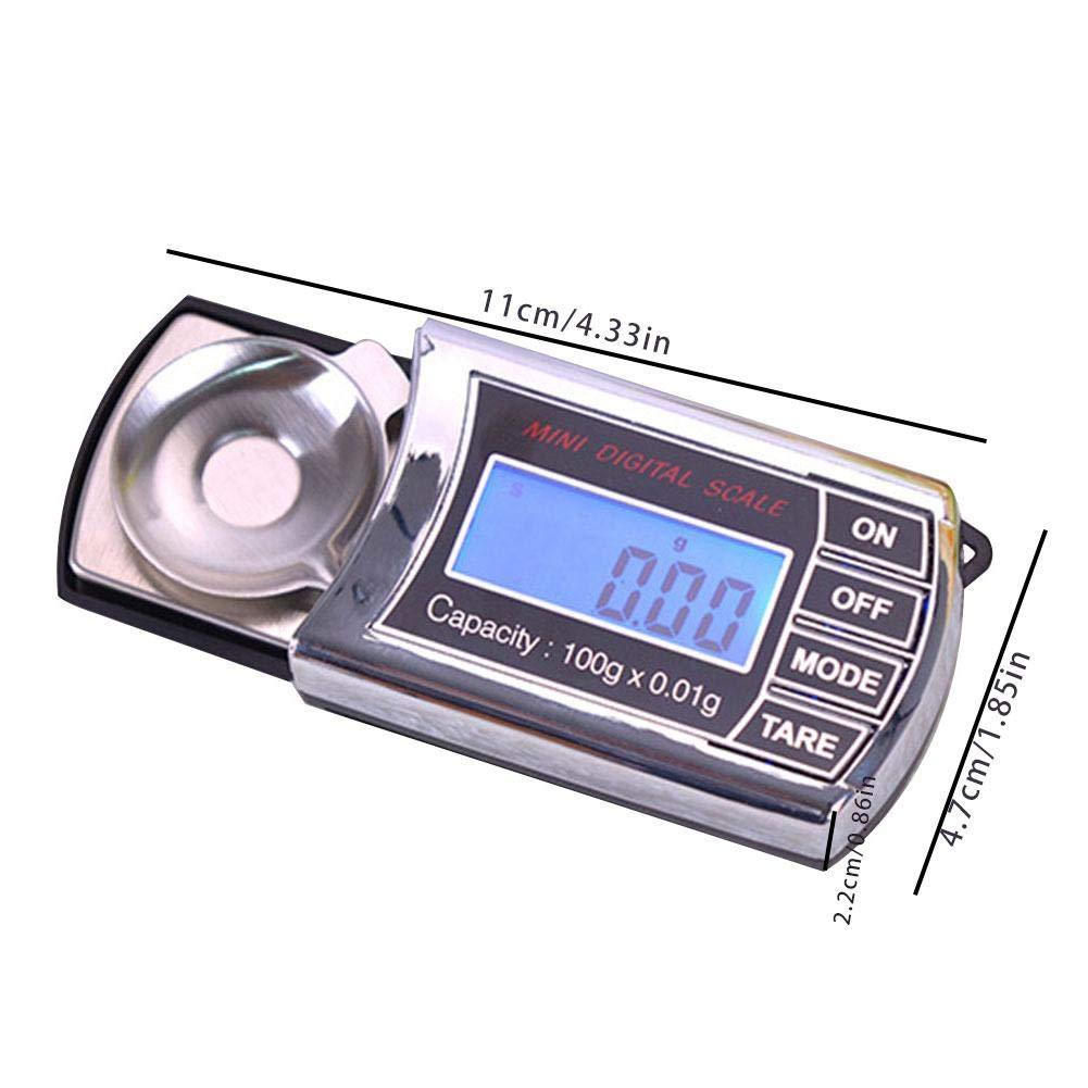 True-Ying - Tocadiscos con Escala de 20 g, 0,001 g, 100 g, 0,01 ...