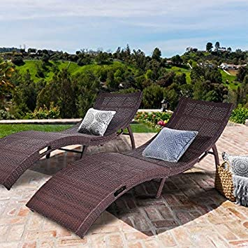 Tangkula Folding Patio Rattan Chaise Lounge Chair Pool Outdoor Furniture 2