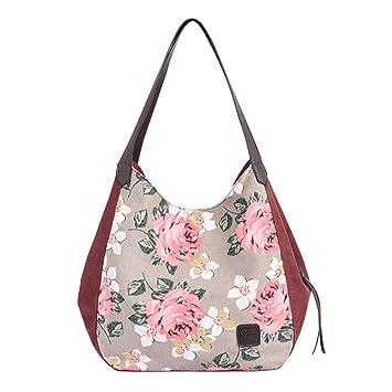 Xinxinyu Mujer Bolsas Lona Estampado Floral | Bolso Tote ...