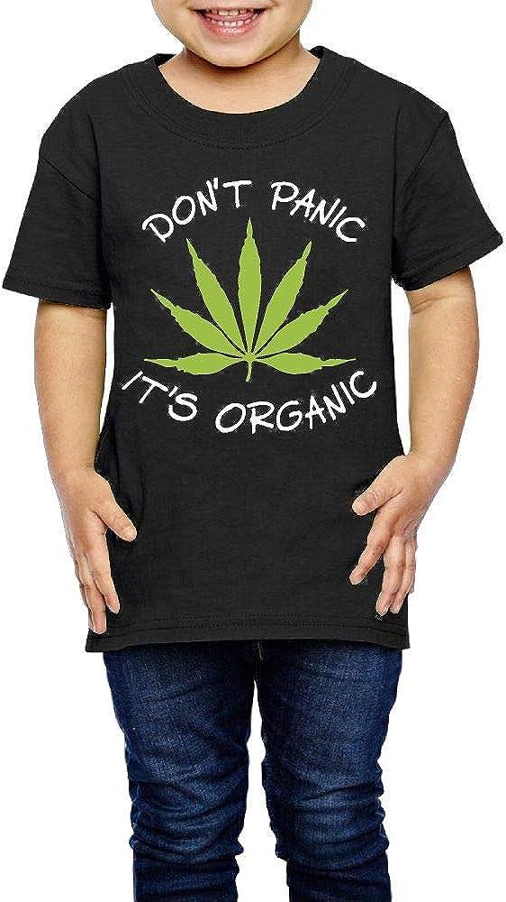 Kcloer24 Dont Panic Its Organic Boys/&Girls Organic T-Shirt Short Sleeve Tee 2-6 Years Old