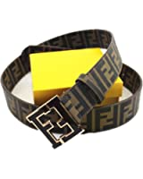 fendi mens belt size brown with black f