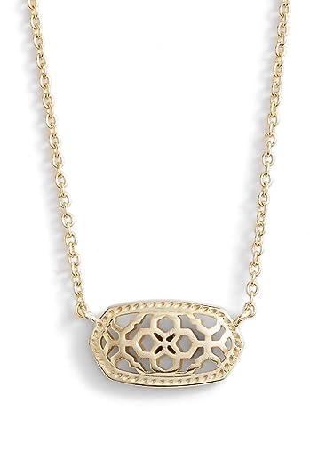 1710aa753385a5 Amazon.com: Kendra Scott. Signature Elisa Pendant Necklace - Gold ...