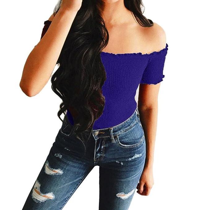 Manica Senza Spalline Shirt Donna T Corta Homebaby® Magliette Casual vnwNm80