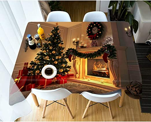 AMON LL Mantel Tela Moderna Mesa de Centro de Tela, 3D Navidad ...