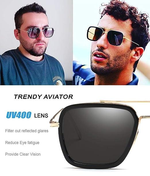 Amazon.com: Eyerno - Gafas de sol estilo aviador vintage ...