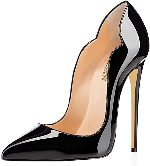 MODEMOVEN Women's Black Sexy Point Toe
