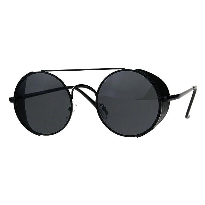 Amazon.com: Steampunk tapa lateral anteojos de sol redonda ...