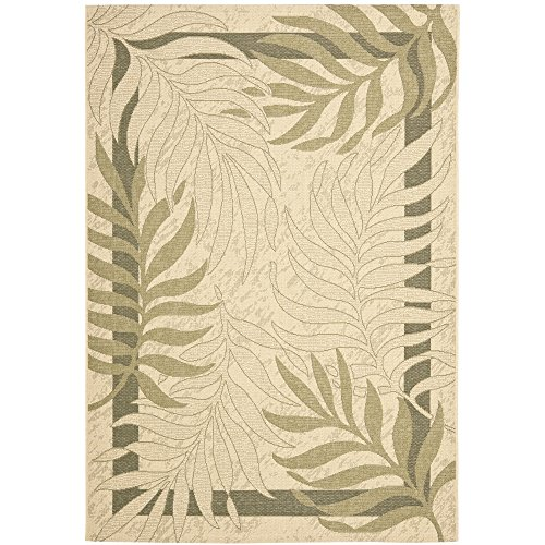 Safavieh Courtyard Collection CY7836-14A5 Cream and Green Indoor/ Outdoor Area Rug (5'3