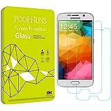 Schutzfolie für Samsung Galaxy S6, POOPHUNS 2Stück Panzerglas für Galaxy S6, 9H Härtegrad, 99% Transparenz Full HD, Einfaches Anbringen, Displayschutzfolie für Samsung Galaxy S6