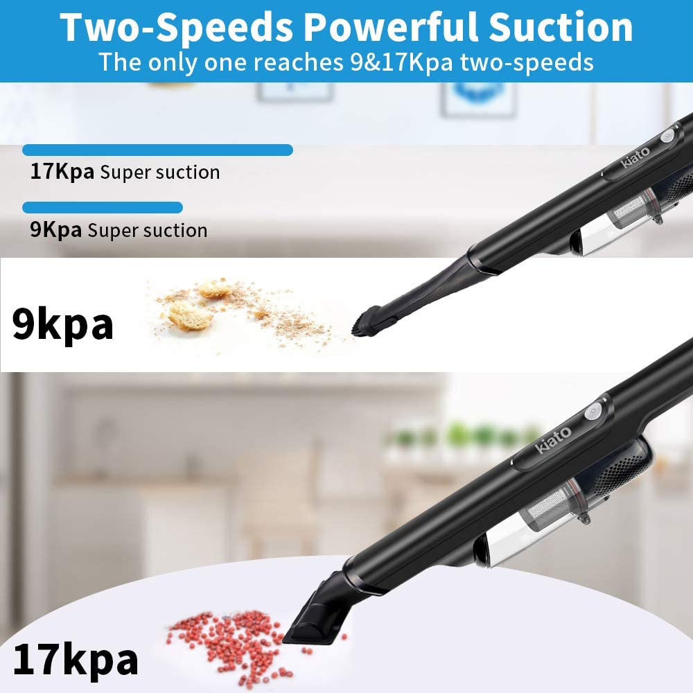 Handheld Vacuum 17KPA Powerful Suction Rechargeable Cordless Hand Vacuum Cleaner with 200W Motor for Home Car Pet Hair Cleaning Dust Buster for Wet Dry Using