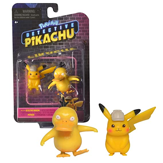 Pokémon Detective Pikachu And Psyduck Figure 2 Pack   2 Inch Mini Figure Set   Ages 3+ by Wicked Cool Toys