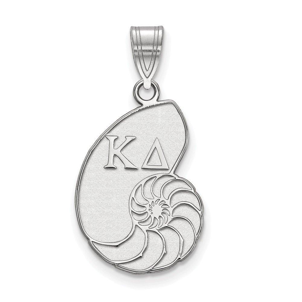 Solid 925 Sterling Silver Kappa Delta Medium Pendant 14mm x 27mm
