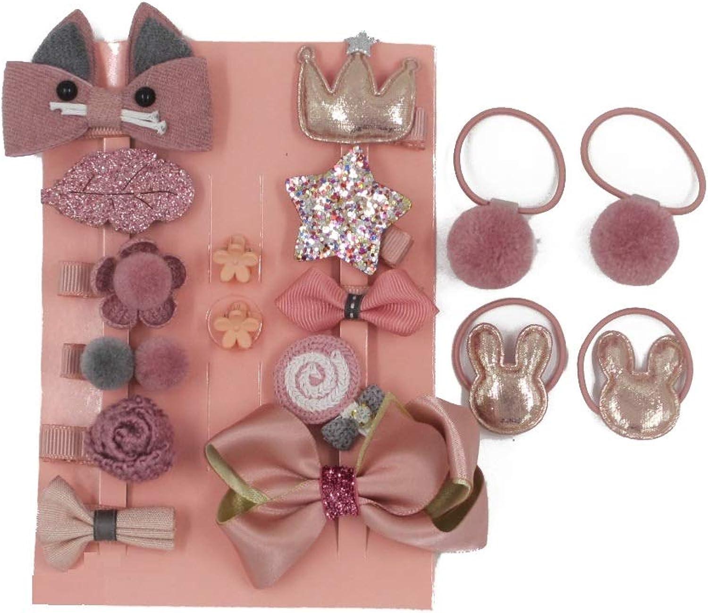 piggy set double layer clip set mini hair clip set fall clip set baby clips set pig tail clip set, flower bow hair clip set