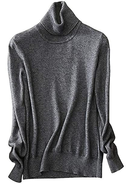ee7d7872c44c29 LATUD Women's Long Sleeves Cashmere Turtleneck Slim Fit Knitted Chic Candy  Color Pullover Jumper Sweater,