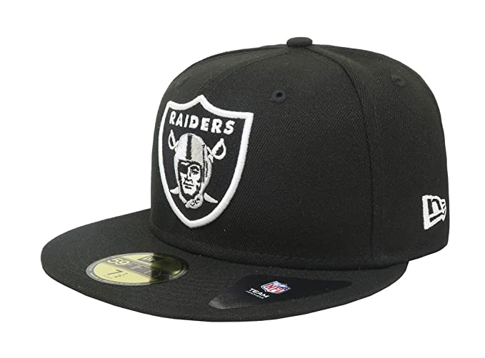 26afcaf2cd2 New Era 59Fifty Hat Oakland Raiders Team Basic NFL Black Fitted Headwear  Cap (7)