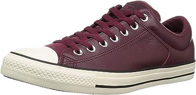 burgundy slip on converse