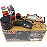 HPS 27-275WB Wrinkle Black Shortram Air Intake Kit Cool (Non-Carb Compliant)