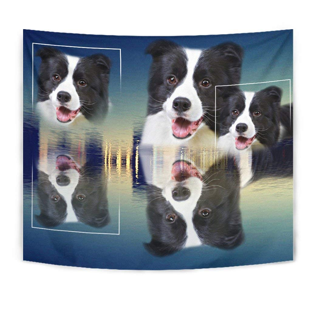 Border Collie Print Tapestry by Simply Cool Trends