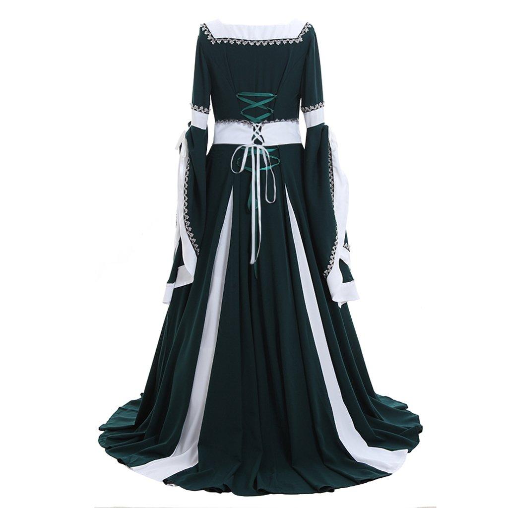 Amazon.com: cosplaydiy Mujer Deluxe disfraz de renacimiento ...