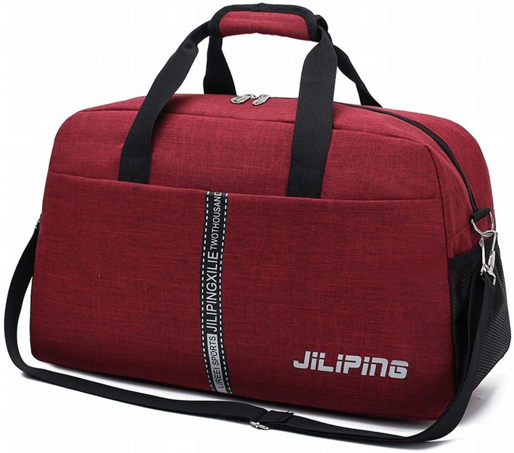 Color : Dark red XIAMEND Men Travel Boarding Bag Travel Bag Luggage Bag Water Repellent