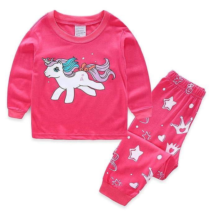 Pijamas Unicornio Rosa Camiseta y Pantalones Conjunto Pijama ...