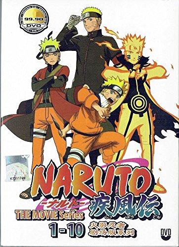 NARUTO THE MOVIE SERIES (ENGLISH AUDIO) - COMPLETE MOVIE SERIES DVD BOX SET ( 1-10 EPISODES - Complete Naruto Series