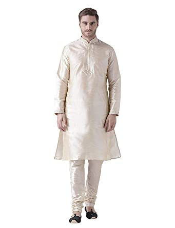 926366e08a Image Unavailable. Image not available for. Color  Men s Kurta Pyjama Set  Dupion Silk Ethnic Wedding Wear ...