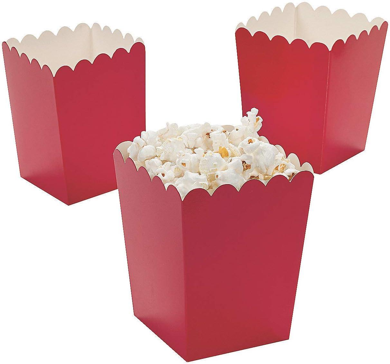 Mini Popcorn Boxes - Red - Teacher Resources & Birthday Supplies - 2 dozen