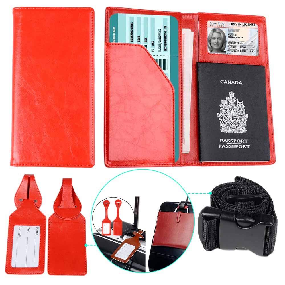 23fb0c33328f XeYOU Passport Holder Travel Wallet Vegan Leather Passport Case Cover Air  Ticket Holder (Love Tree)