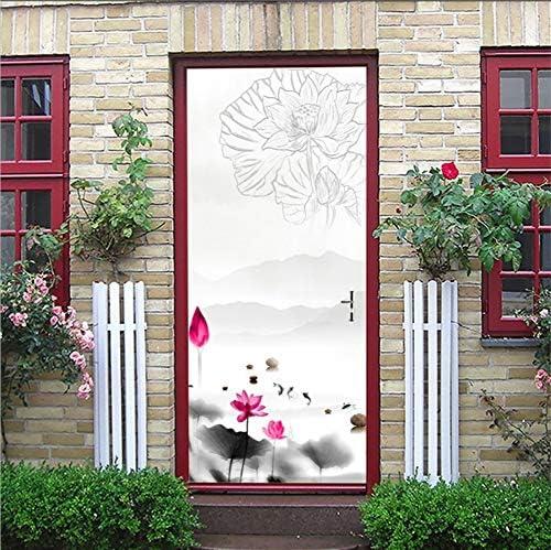 Decoración De Puertas Pegatinas De Puertas En 3D Pintura De Tinta Decoración De Puertas Correderas Sala De Estar Estudio Antecedentes Pegatinas De Pared Decoración De Puertas De Madera De Imitación, A: Amazon.es: