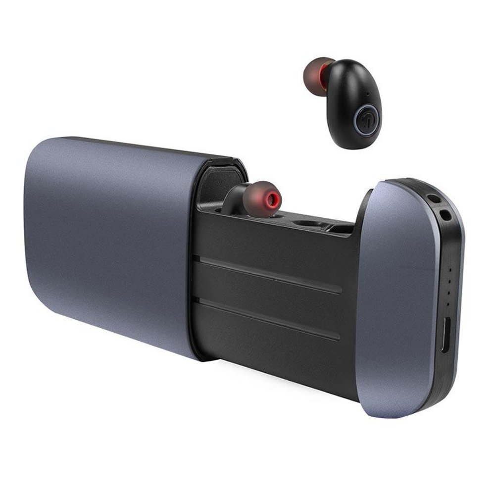 Wireless Earbuds, SuperElect TWS Stereo Bluetooth Headphones Mini in-Ear Bluetooth Noise Cancelling Earbuds with Charging Case as Power Bank, Built-in Mic Compatible Android(Grey) by Oricore