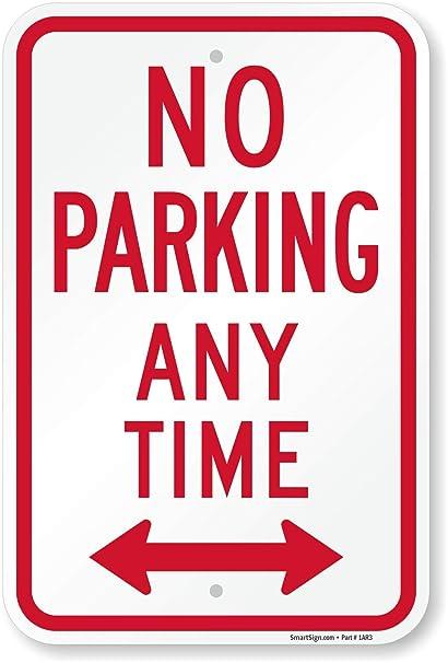 Amazon.com: Señal de aparcamiento SmartSign, con la ...