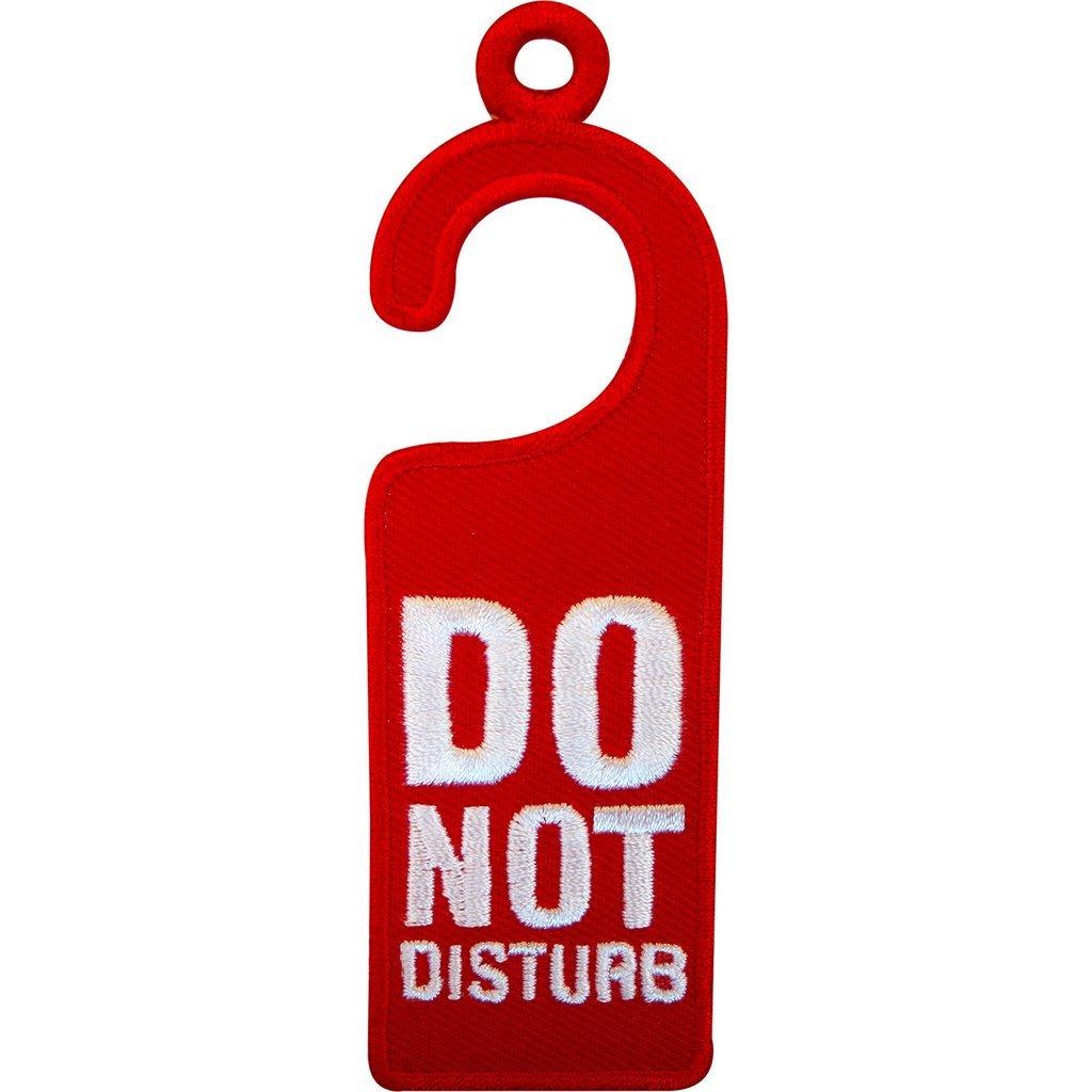 No Molestar hierro en parche Sew bordado en insignia Sign ...