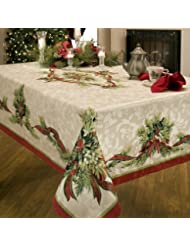Christmas Tablecloths.Amazon Com Christmas Tablecloths Kitchen Table Linens
