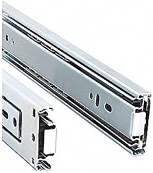 Zinc Plated 22 Inch Laurey 10622 Ball Bearing Full Extention Side Mount Slide-22 Inch-Pair Drawer Slide