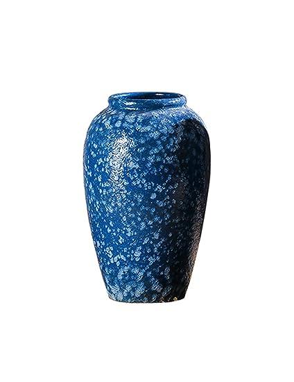 Amazon Vase Retro Ceramic Dried Flowers Blue Ornament