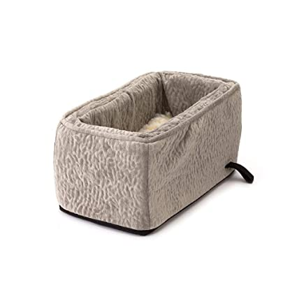 Snoozer Pet Products Luxury Console Dog Car Seat With Microfiber Show Dog Collection Large Piston Storm